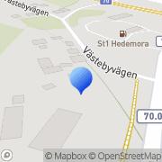 Karta T.a. Electric Thomas Almquist Hedemora, Sverige