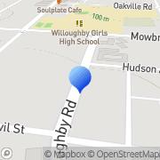 Map Windoor Willoughby, Australia