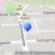 Karte Installateurzentrum der ÖAG AG Zweigniederlassung der Frauenthal Wien, Österreich