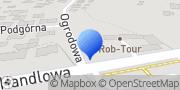"""Mapa Przewozy Autokarowe """"Rob-Tour"""" Robert Michalski Kamieniec, Polska"""