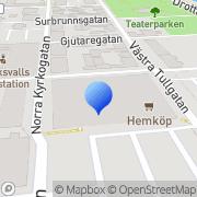 Karta Hemköpskedjan AB Hudiksvall, Sverige