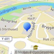 Karta Kunskapsföretaget Mest Kunskap & Utbildning i Sundsvall, Sverige