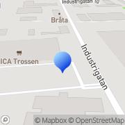 Karta Jibro Maskin AB Trosa, Sverige