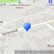 Map Sklenárstvo STED s.r.o Trnava, Slovakia
