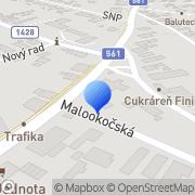 Map HB METAL s.r.o. Dunajská Streda Komárno Veľký Meder Nové Zámky Okoč, Slovakia