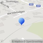 Karta Södra Gräv & Sopservice AB Huddinge, Sverige