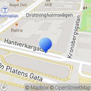Karta Kafé Kanel Stockholm, Sverige