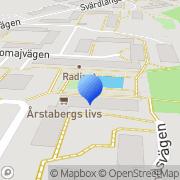 Karta Robeab Markanläggningar Årsta, Sverige