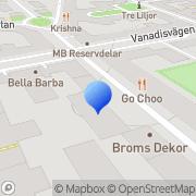 Karta Mili IT Consulting Stockholm, Sverige