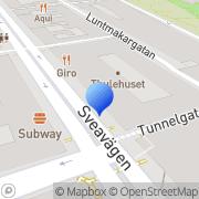 Karta Arbetsgivarverket Stockholm, Sverige