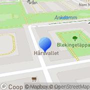 Karta Hårsvallet Stockholm, Sverige