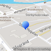 Karta Kunskapsbyrån i Mälardalen Stockholm, Sverige