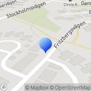 Karta Projectus Kommunikation Vallentuna, Sverige