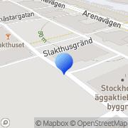 Karta Selga Globen Stockholm, Sverige