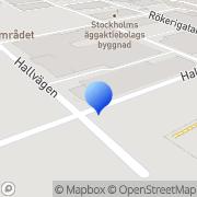 Karta P.G. Plast AB Huddinge, Sverige