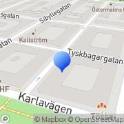 Karta Byggpedanten Östermalm Stockholm, Sverige