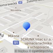 Map Juraj Šinský - FENSTEC Nitra, Slovakia