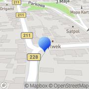 Mapa Węzeł Kazimierz. Metale kolorowe Kartuzy, Polska