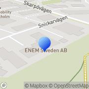 Karta KS Nordberg Bil & Släp AB Saltsjö-Boo, Sverige