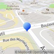 Carte de Crecom Cergy, France