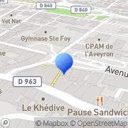 Carte de B.P.T.A. Decazeville, France