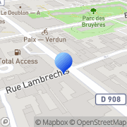 Carte de Etablissement jean Crescitz S.A.R.L. Courbevoie, France
