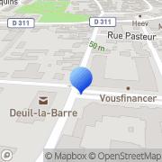 Carte de Gillet et Compagnie S.A. Deuil-la-Barre, France