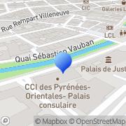 Carte de C.C.I. de Perpignan - Chambre de Commerce et d'Industrie de Perpignan et des Pyrennées Orientales Perpignan, France