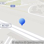 Karta Företagsparken På Teg AB Umeå, Sverige