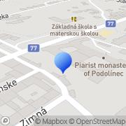 Map DETSKÝ DOMOV SV. KLEMENTA HOFBAUERA Podolínec, Slovakia