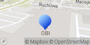 Mapa OBI Warszawa Krakowska Warszawa, Polska