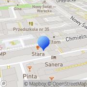 Mapa Art. biurowe Warszawa, Polska