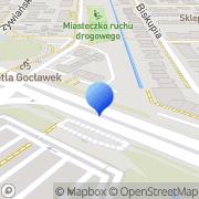 Mapa Art. dekoracyjne Warszawa, Polska