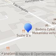 Karta Fyrkantens Maskin & Fastigheter Boden, Sverige