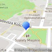 Mapa Przybyła J. Autoczęści  Sanok, Polska
