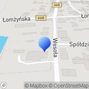 Mapa Zakład Energetyczny Białystok SA. Posterunek energetyczny Jedwabne, Polska