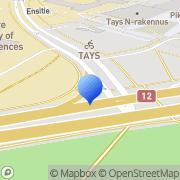 Kartta Tampereen ammattikorkeakoulun opiskelijakunta Tampere, Suomi