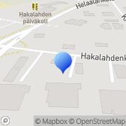 Kartta Kalajokilaakson Mielenterveysyhdistys Mielikit ry Mielikkitalo Ylivieska, Suomi