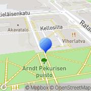 Kartta Erityisalojen Toimihenkilöiden Työttömyyskassa ERTO Helsinki, Suomi