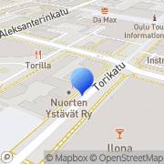 Kartta Nuorten Ystävät-kiinteistöt Oy Oulu, Suomi