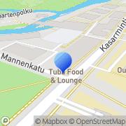 Kartta Oulun yliopiston Ylioppilaskunta OYY Oulu, Suomi
