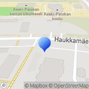 Kartta Jyväskylän maalaiskunnan veteraanien asuntosäätiö Palokka, Suomi