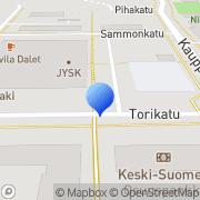 Kartta Mielenterveyskerho Ilona ry Äänekoski, Suomi