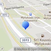 Kartta ABC automaattiasema Myllykoski, Suomi