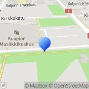 Kartta Kuopion Musiikkikeskus Kuopio, Suomi