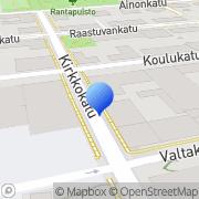 Kartta Suomen Punainen Risti, Veripalvelu Lappeenranta, Suomi