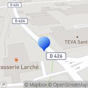 Carte de Bayer Pharma S.A. Sens, France