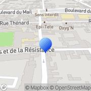Carte de Creneau S.A. Sens, France