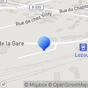Carte de Fontex S.A. Lezoux, France