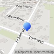 Kaart Geldof Klussenbedrijf M Vrouwenpolder, Nederland